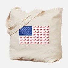 Patriotic Horses USA Tote Bag