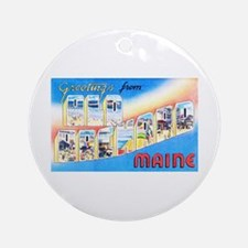 Old Orchard Maine Greetings Ornament (Round)