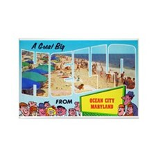 Ocean City Maryland Greetings Rectangle Magnet