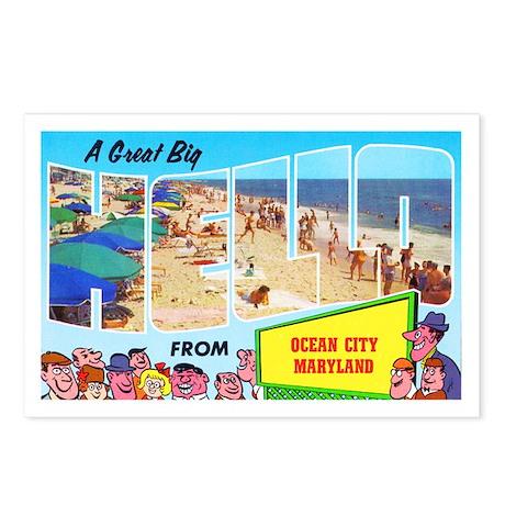 Ocean City Maryland Greetings Postcards (Package o