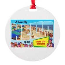Ocean City Maryland Greetings Ornament