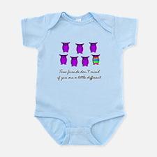 Different Owl Purple Infant Bodysuit