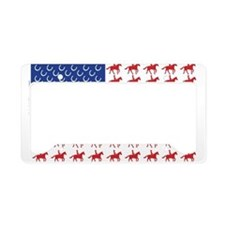 Patriotic Horse and Rider License Plate Holder