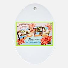Noel Missouri Greetings Ornament (Oval)