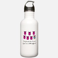 Different Owl Pink Water Bottle