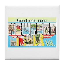 Newport News Virginia Tile Coaster