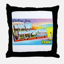 New London Connecticut Greetings Throw Pillow