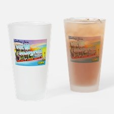 New London Connecticut Greetings Drinking Glass