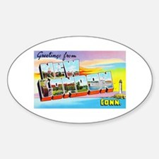 New London Connecticut Greetings Decal