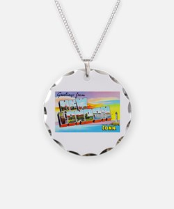 New London Connecticut Greetings Necklace
