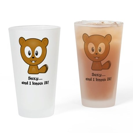 Sexy And I Know It Chipmunk Drinking Glass