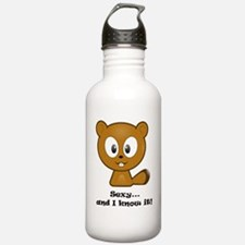 Sexy And I Know It Chipmunk Water Bottle