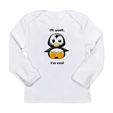 Oh Yeah, I'm Cool Penguin Long Sleeve Infant T-Shi