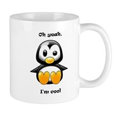 Oh Yeah, I'm Cool Penguin Small Mugs