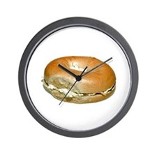 Bagel and Cream Cheese Wall Clock