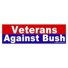 Veterans Against Bush Bumper Bumper Sticker