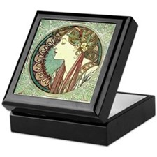 Laurel by Alphonse Mucha Keepsake Box