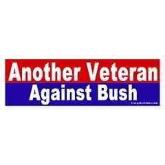 Another Veteran Vs. Bush Bumper Bumper Sticker