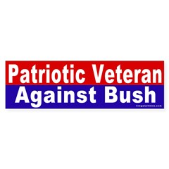 Patriot Against Bush Bumper Bumper Sticker