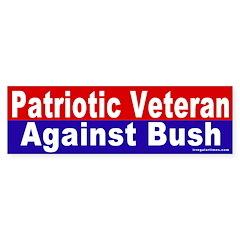 Patriot Against Bush Bumper Bumper Sticker