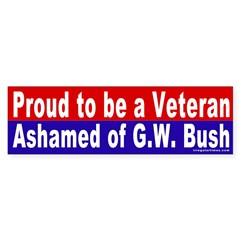 Proud Veteran Vs. Bush Bumper Bumper Sticker