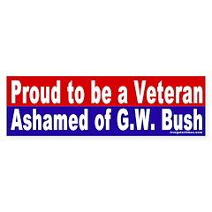 Proud Veteran Vs. Bush Bumper Bumper Sticker