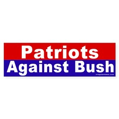 Patriots Against Bush Bumper Bumper Sticker