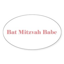 Bat Mitzvah Oval Decal