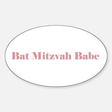 Bat Mitzvah Oval Decal