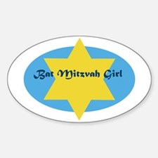 Bat Mitzvah Girl Oval Decal