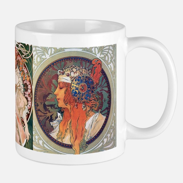 Mucha Blonde and Champenoise Mug