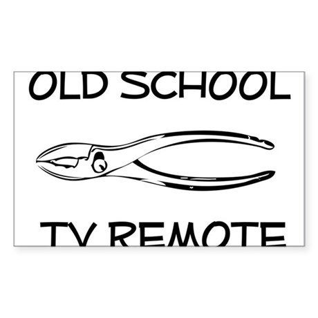 Old School TV Remote Control Sticker (Rectangle)