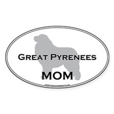 Great Pyrenees MOM Oval Decal