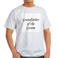 Grandfather of the Groom Ash Grey T-Shirt