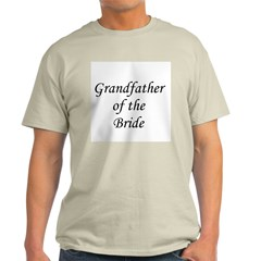 Grandfather of the Bride. Ash Grey T-Shirt