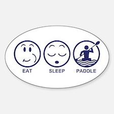 Eat Sleep Paddle Decal