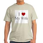 I (heart) My Wife! Ash Grey T-Shirt