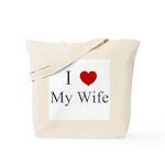 I (heart) My Wife! Tote Bag