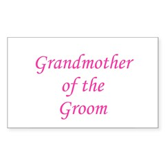 Grandmother of the Groom Rectangle Decal