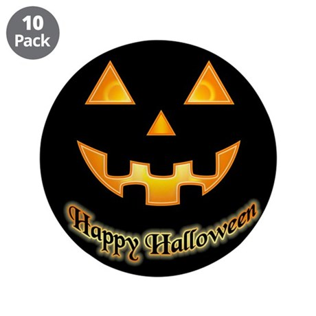 "Pumpkin face - 3.5"" Button (10 pack)"