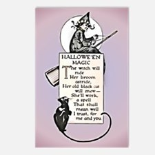 Halloween Witch Postcards (Package of 8)