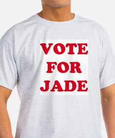 VOTE FOR JADE Ash Grey T-Shirt