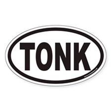Tonkinese TONK Euro Oval Decal