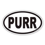 PURR Euro Oval Sticker for Cat Lovers