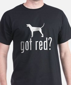 Redbone Coonhound Black T-Shirt