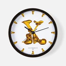 Blown Gold X Wall Clock