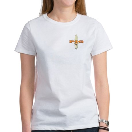 1955 Pig Tail Surfboard Women's T-Shirt