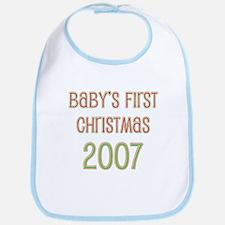 Baby's First Christmas 2007 Bib