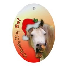 Ho Ho Horse Xmas Oval Ornament