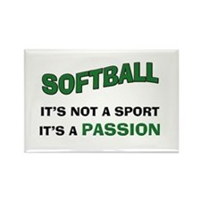 Softball It's a Passion Rectangle Magnet